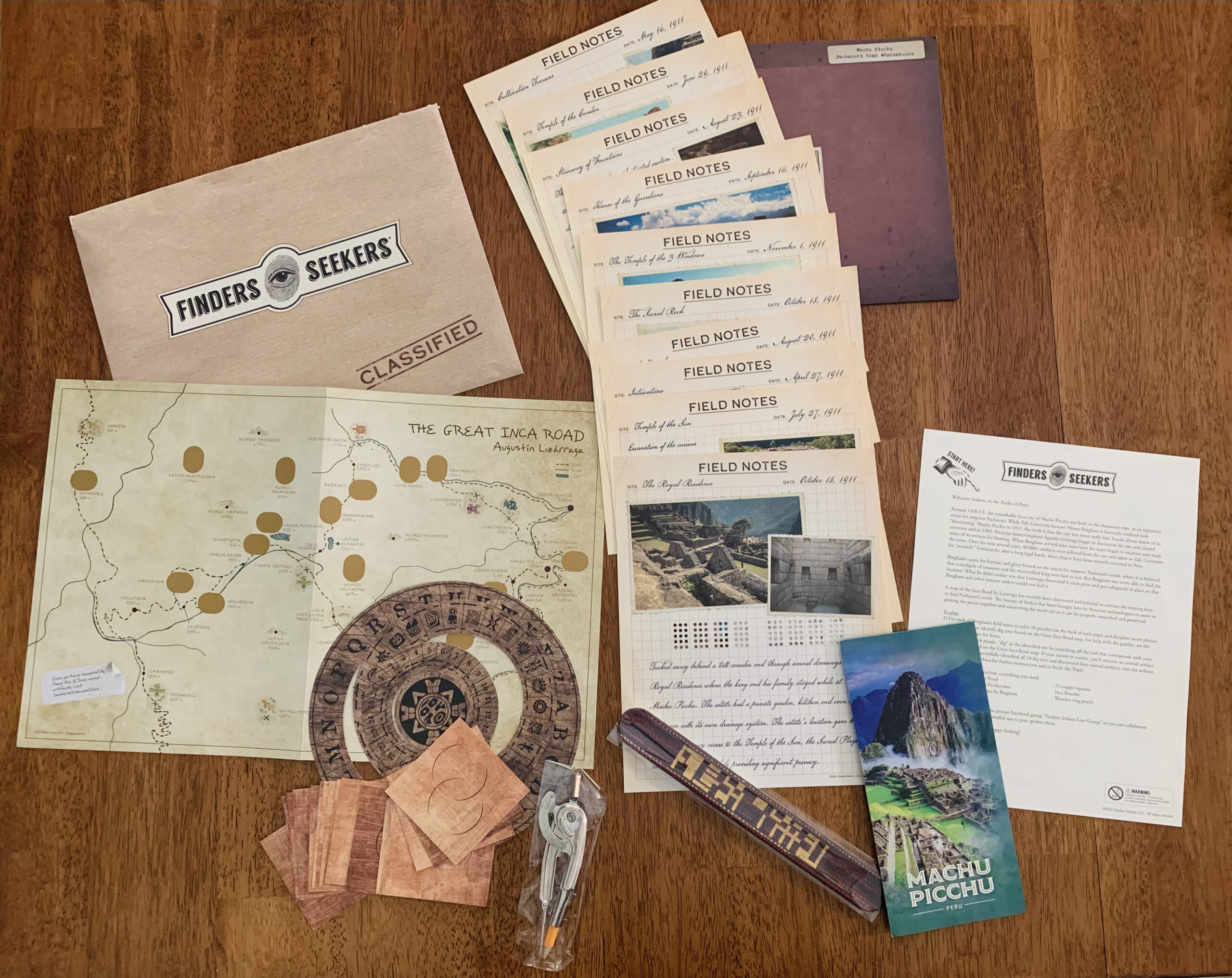 Machu Picchu review contents